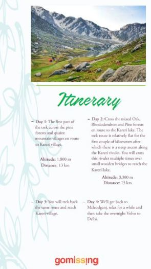 Kareri Lake Trek Brochure